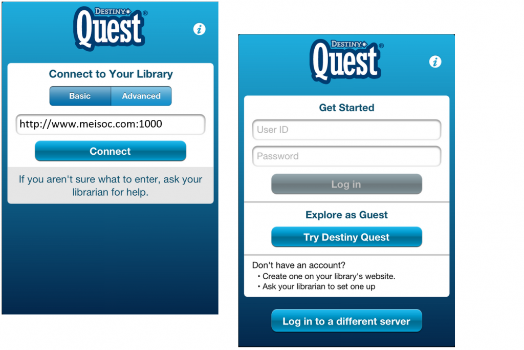 destiny quest login