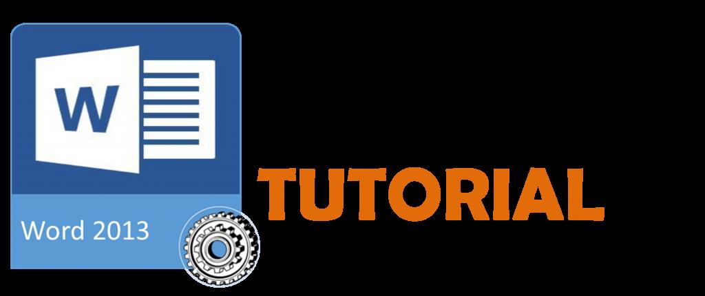 tutorial Word2013