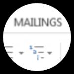 word mailings
