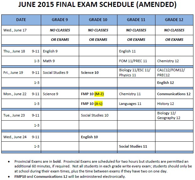 June 2015 Final Exam Schedule amended.pdf