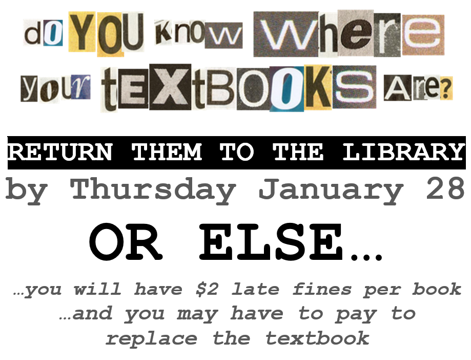 do you know where your textbooks are