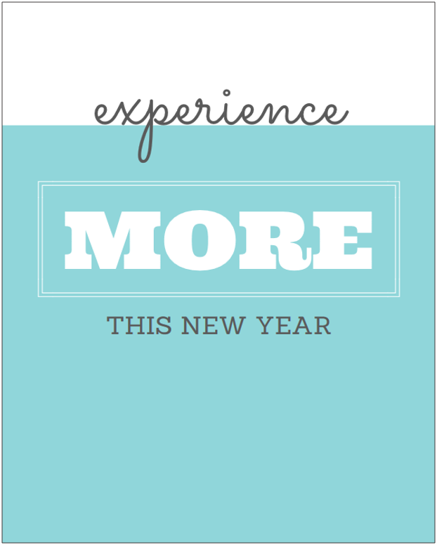 experience more this new year